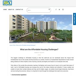 What are the Affordable Housing Challenges?