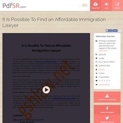 It Is Possible To Find an Affordable Immigration Lawyer