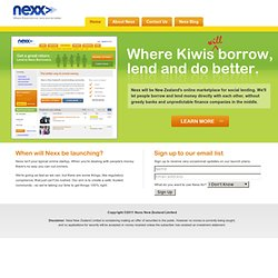 Nexx | Affordable Loans and Rewarding Investments at New Zealand
