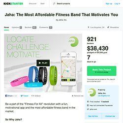 Jaha: The Most Affordable Fitness Band That Motivates You by Jaha, Inc.