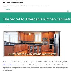 The Secret to Affordable Kitchen Cabinets