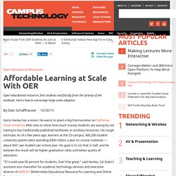 Affordable Learning at Scale With OER
