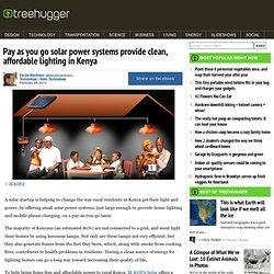 Pay as you go solar power lighting in Kenya
