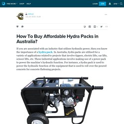 How To Buy Affordable Hydra Packs in Australia?: rollcon — LiveJournal