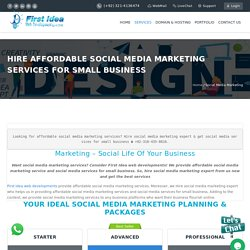 Hire Affordable Social Media Marketing Services for Small Business