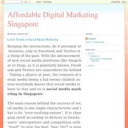 Social Media Singapore
