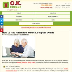 How to Find Affordable Medical Supplies Online