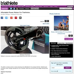 Affordable Power Meters For Triathletes