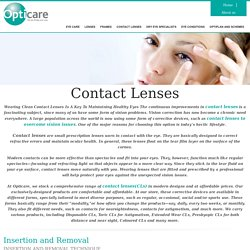 Buy Quality Contact Lenses at Affordable Prices - Opticare Optician