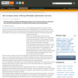 SEO Company Boise: Offering Affordable Optimization Services
