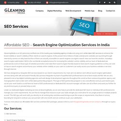 Affordable SEO Services in India, Best SEO Services, Performance SEO Services