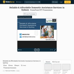 Reliable & Affordable Domestic Assistance Services in Sydney