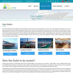 Our Gulets: Affordable Private Gulet Yacht Charter Prices