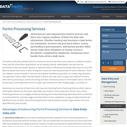 Affordable Forms Processing Services at Data-Entry-India.com