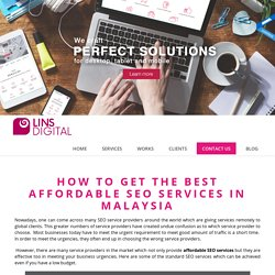 Affordable SEO Services Malaysia