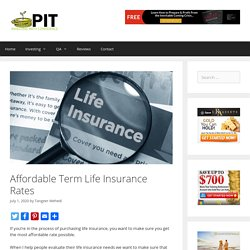 Affordable Term Life Insurance Rates - ProInvestorTips