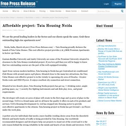 Affordable project: Tata Housing Noida