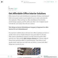 Get Affordable Office Interior Solutions