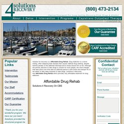 Capistrano Drug Rehabilitation