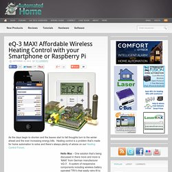 eQ-3 MAX! Affordable Wireless Heating Control with your Smartphone or Raspberry Pi