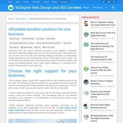 Affordable bundled solutions for new business