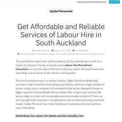 Get Affordable and Reliable Services of Labour Hire in South Auckland – SpiderPersonnel