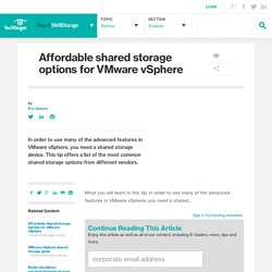 Affordable shared storage options for VMware vSphere