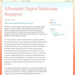 Affordable Digital Marketing Singapore