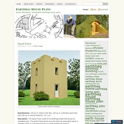 Small, affordable, sustainable earthbag house plans