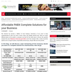 Affordable PABX Complete Solutions for your Business