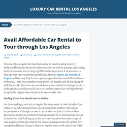 Avail Affordable Car Rental to Tour through Los Angeles