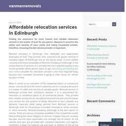 Reliable removal company Edinburgh