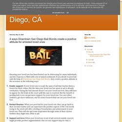 Affordably Easy Bail Bonds San Diego, CA: 4 ways Downtown San Diego Bail Bonds create a positive attitude for arrested loved ones