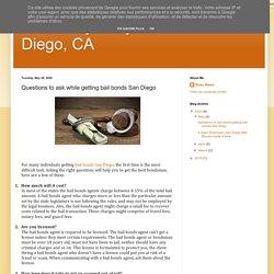 Affordably Easy Bail Bonds San Diego, CA: Questions to ask while getting bail bonds San Diego