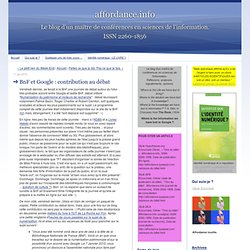 BnF et Google : contribution au débat