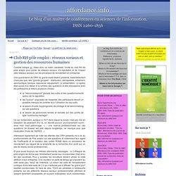Club RH pôle emploi : réseaux sociaux et gestion des ressources humaines