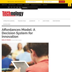 Affordances Model: A Decision System for Innovation