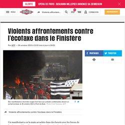 Violents affrontements contre l'écotaxe dans le Finistère
