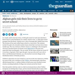 Afghan girls risk their lives to go to secret school