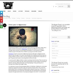 Child Labor in Afghanistan - The Borgen Project