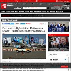 Elections en Afghanistan: 416 femmes bravent le risque de se porter candidates - Asie-Pacifique