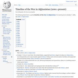 Timeline of the War in Afghanistan (2001–present)