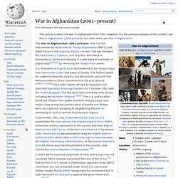 War in Afghanistan (2001–present)
