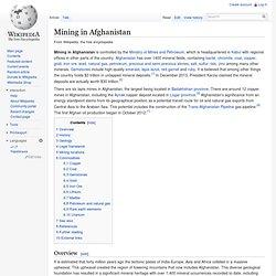 Mining in Afghanistan