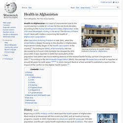 Health in Afghanistan