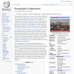 Demography of Afghanistan
