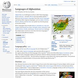 Languages of Afghanistan