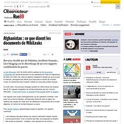 Que révèlent les documents de WikiLeaks ?