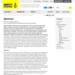 Afghanistan Amnestys årsrapport Mänskliga rättigheter Amnesty