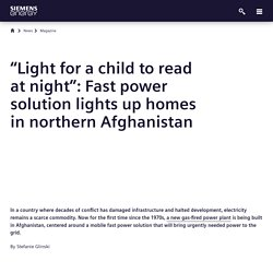 Fast Power for Afghanistan